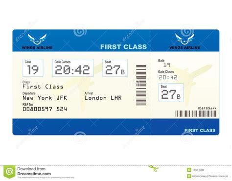 plane ticket stock photos image 14641303