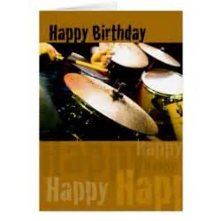 drummer happy birthday greeting card zazzle