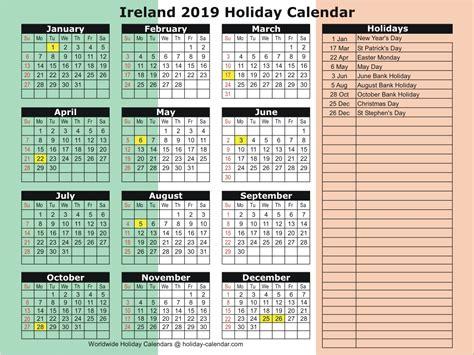 ireland   holiday calendar