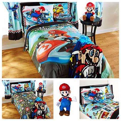 super mario comforter set super mario bros mario kart reversible bedding comforter