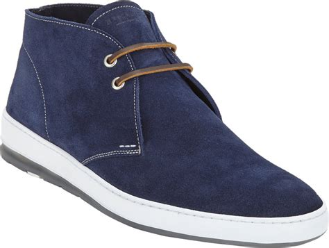 Homypro Hunt Sneakers Navy heschung sand chukka sneaker in blue for navy lyst