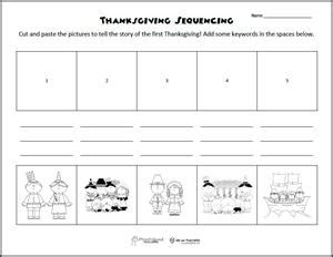 free printable of the week thanksgiving sequencing