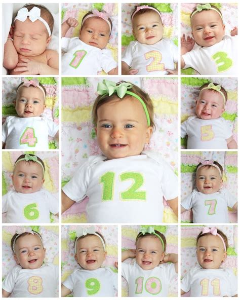Baby S First Birthday Collage Take A Picture Each Month And Combine At One Year I Will 12 Month Photo Collage Template