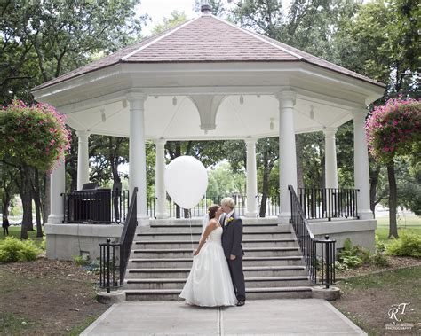 Fargo Moorhead Weddings   The gazebo in Island Park is