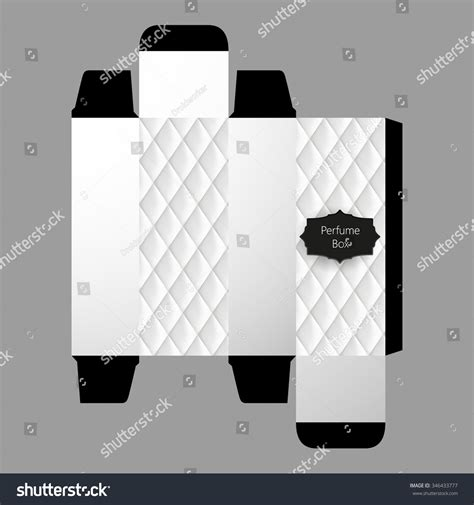 cologne box template perfume box template design vector stock vector 346433777