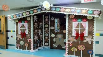 school office decor gingerbread house door