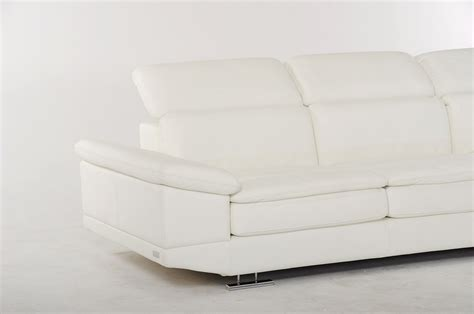 dima modern white italian leather sectional sofa