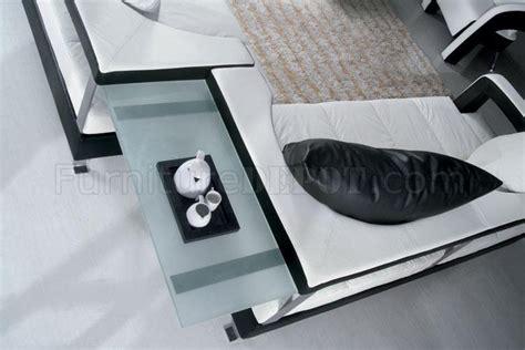 enez ultra modern contemporary black white leatherette black and white leather ultra modern 4pc living room set