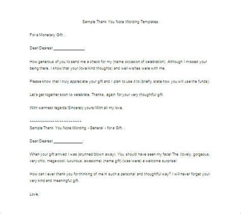 thank you letter gift template thank you letter for gift 8 free word excel pdf