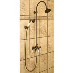 Bath Handheld Shower Exposed Pipe Shower With Hand Shower Shower Bathroom