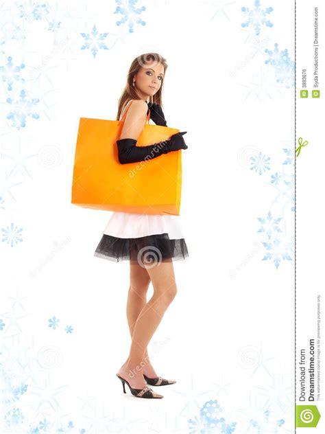 Unwind Lover Bag Laide Orange with orange shopping bag and snowflak royalty