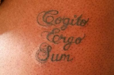cogito ergo sum tattoo word tattoos lovetoknow