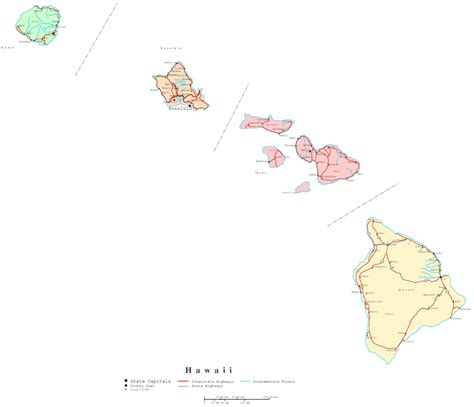 map of hawaii hawaii printable map