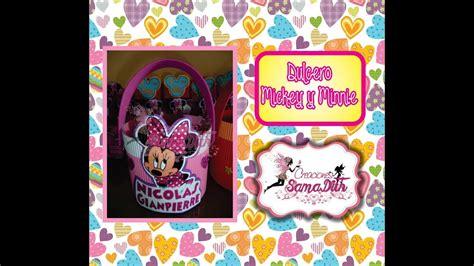 decoraciones deminnie en latas de leche newhairstylesformen2014 com dulcero para fiestas infantiles youtube