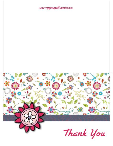 Thank You Gift Card - free printable thank you cards new calendar template site