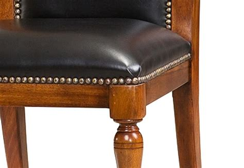 Leather For Chair Upholstery by Solid Walnut Leather Upholstered Dining Chairs With Brass