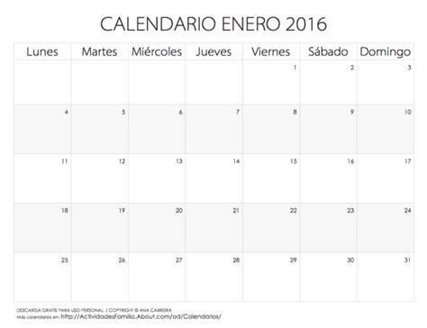 calendario para imprimir 2016 mes por mes calendarios 2016 para imprimir