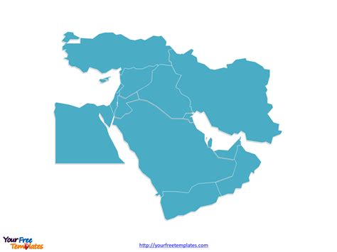middle east map for powerpoint free middle east editable map free powerpoint templates