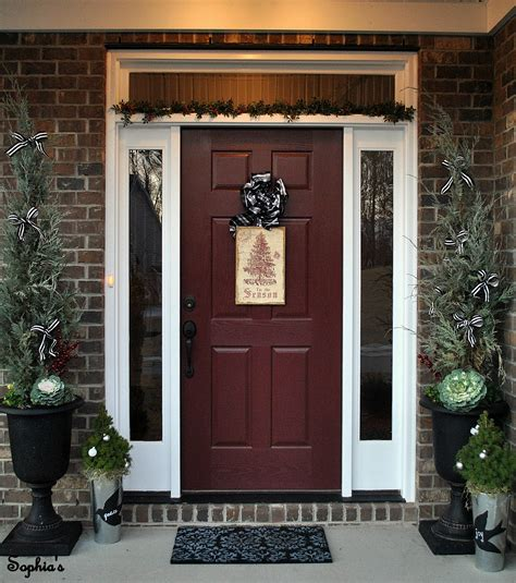 front door colors with red brick design and decor will this tree ever stop blowing away