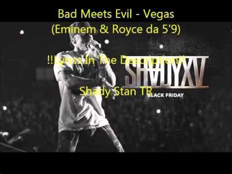 eminem vegas eminem royce da 5 9 vegas lyrics youtube