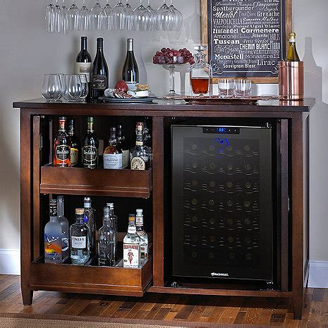 cabinet wine fridge firenze mezzo wine and spirits credenza with 28 bottle