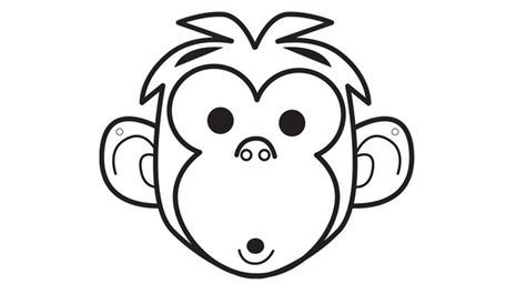 printable animal faces best photos of monkey face mask template monkey face