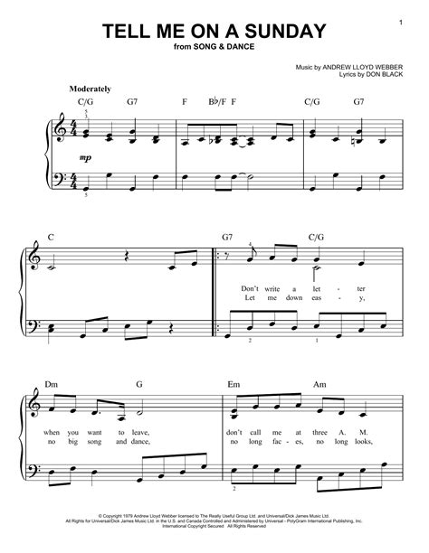 tell me on a sunday wikipedia tell me on a sunday sheet music direct