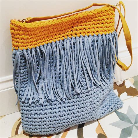 crochet pattern t shirt yarn tassel tote t shirt yarn crochet bag pattern