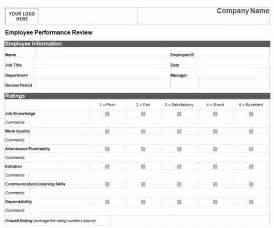 Employee Performance Review Templates by Employee Performance Review Template Cyberuse