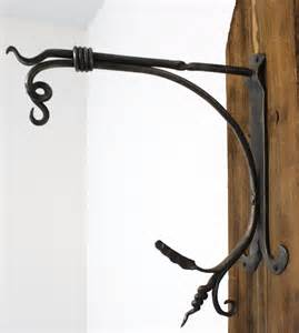 Curtain Poles And Brackets Hand Forged Hanging Basket Bracket Robinson Blast Cleaning