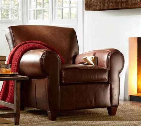 manhattan armchair manhattan leather armchair pottery barn