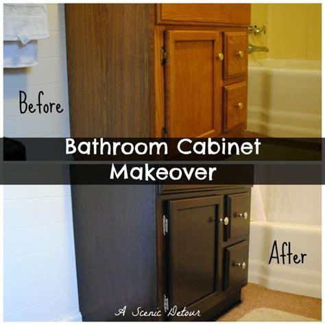 diy bathroom cabinet makeover cabinet makeover bathrooms pinterest