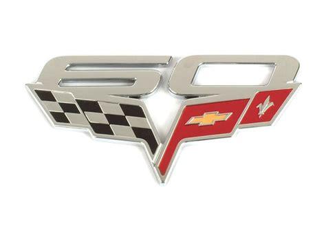 corvette emblems by year c6 corvette 2005 2013 60th anniversary gm fender emblem