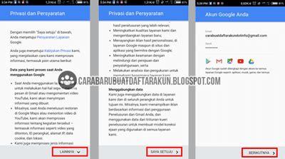 daftar email  lewat hp android  buat akun google