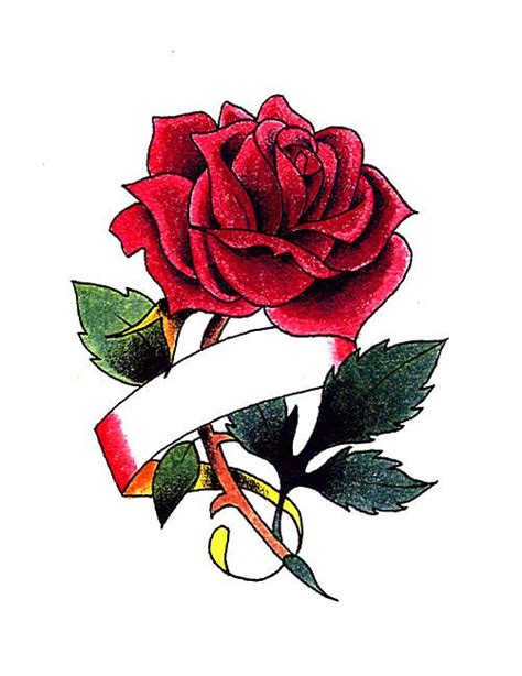 rose tattoo with ribbon tattoos with 5 ribbons with ribbon for