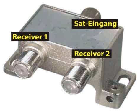 sat multischalter 1 eingang 2 ausgänge elektronischer sat verteiler 1 lnb auf 2 receiver