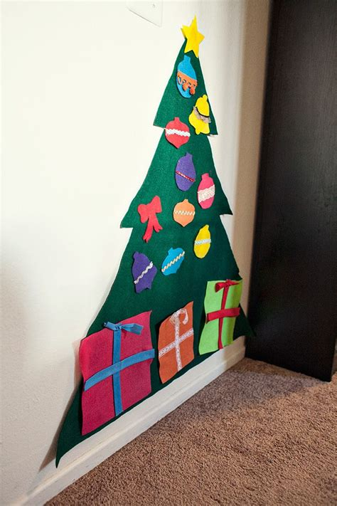 diy felt christmas tree christmas pinterest