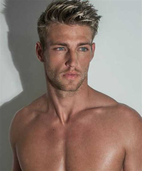 mens spiked hairstyles with blonde highlights 20 cool guy hair color trend haircuts