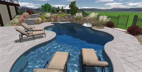 Attractive Pool Designs For Small Backyards And Nice Yard