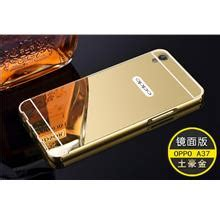 Oppo Mirror 5 Metal Slide Sarung Casing Back Cover Mewah oppo a37 price harga in malaysia wts in lelong