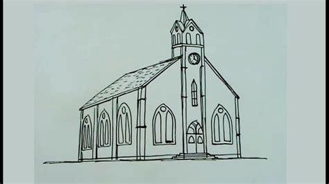 imagenes de una iglesia para colorear dibuja paso a paso una iglesia catolica youtube