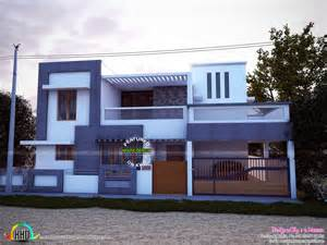 Simple Modern House by East Facing Simple Modern Home Kerala Home Design And