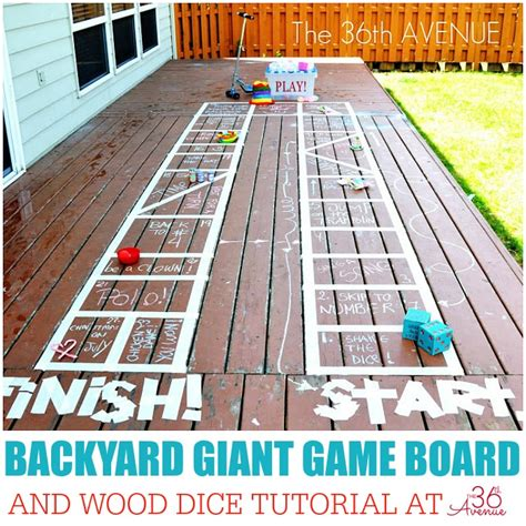 backyard kid activities kid activities backyard giant game board the 36th avenue