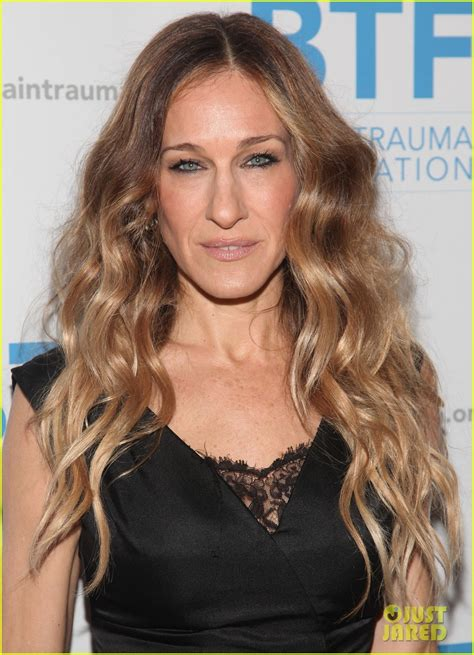celebrities with long thin faces sarah jessica parker brain trauma foundation gala sarah