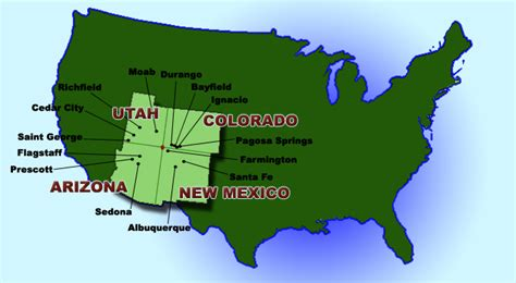 map of new mexico and colorado four corners real estate utah colorado new mexico and