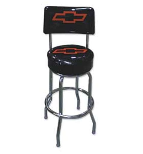 Shop Stools With Backs by Shop Stool W Back Rest Bowtie Classic Chevy Truck Parts
