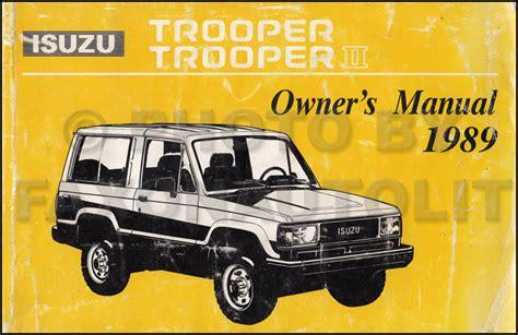 1996 isuzu trooper repair shop manual original 1989 isuzu trooper ii repair shop manual original
