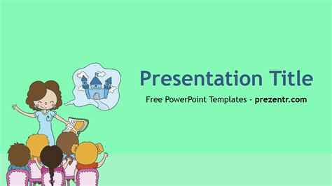 Free Teacher Powerpoint Template Prezentr Powerpoint Free Powerpoint Template For Teachers