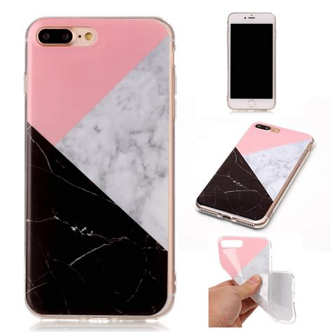 3d painted marble gel soft tpu slim protective cover for iphone 6s 7 plus ebay