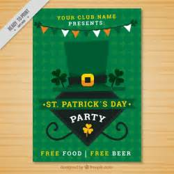 geometric green st s day poster vector free